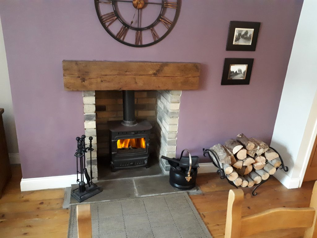 Dining Room log burner